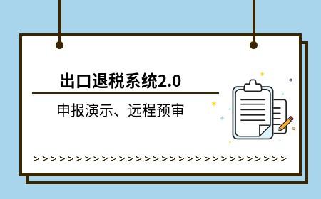 出口退税系统2.0远程预审