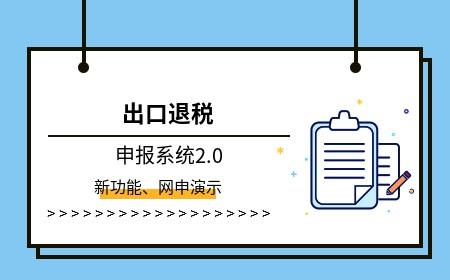 出口退税申报系统2.0的新功能