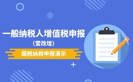一般纳税人增值税申报(营改增)